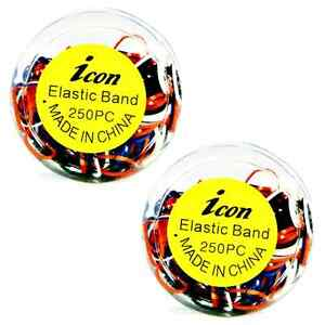 Poly-Elastic Small Hair Rubber Bands 500 pcs  7 Color Choices
