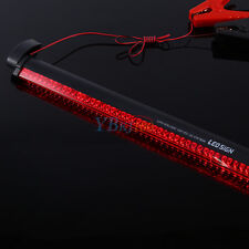 Flexible 38cm 48 LED High Mount Third 3RD Strip Brake Stop Tail Light Lamp 12V