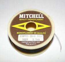 Vintage Mitchell Quality Monofilament Fishing Line Spool 20LB Test Made In USA