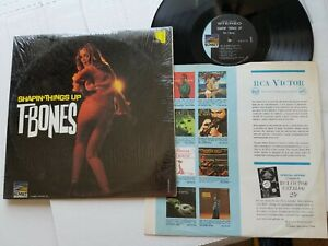 THE T-BONES - Shapin' Things Up 1966 SURF GARAGE ROCK (Lp) in shrink