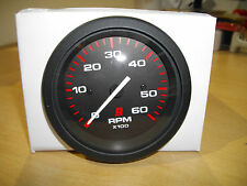 MERCURY TACHOMETER, (0-6000 RPM) BLACK FACE, RED GRADUATIONS, BLACK BEZEL
