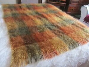 M and S throw/blanket in autumnal colours.