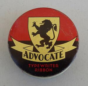 Vintage ADVOCATE Typewriter Ribbon Tin