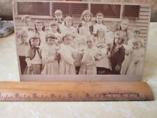 Vintage Cabinet Card, A Very Sober CHILDREN'S BIRTHDAY PARTY,C.1900