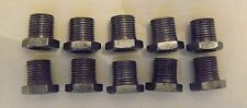"""Lot of 10 Steel Hex Head Nipples 1/8"""" IPS(3/8"""" Dia) 1/2"""" long Smooth Bore (NS1)"""