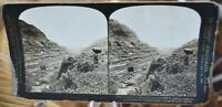 Antique Stereograph Card - Toward Pacific, Culebra Cut, Panama Canal c.1907