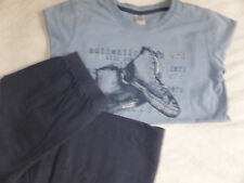 Zara Schlafi Langarm Shirt Hose Gr 150 152 gebraucht cool Chucks blau