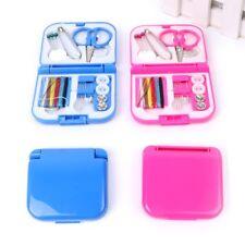 Mini Sewing Kit Portable Travel Small Home Box Needle Thread Tape Scissor Set