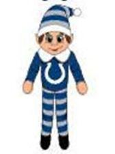 "Indianapolis Colts Plush Christmas Elf [NEW] NFL 9.5"" Doll Shelf Stuffed Toy"
