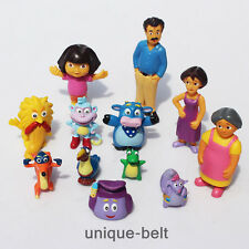 Lot 12 pcs Dora the Explorer Boots Monkey PVC Action Figure Toy Kids Girls Gift