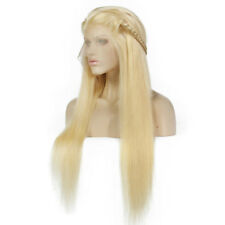 """Fashion 24"""" Lace Front Wig &baby hair Cosplay full wigs Straight 613 Blonde"""