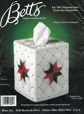 CHRISTMAS STAR Tissue Box Cover - Betts Plastic Canvas Kit - SEALED