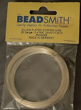 Beadsmith Craft Wire Silver Plated Copper Germany 26 Gauge 65 Feet Total New