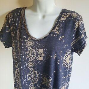 Alternate Earth Women's Large Blue V Neck Shirt Top