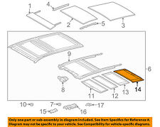 TOYOTA OEM 09-15 Venza Sunroof Sun Roof-Sunshade Shade Cover 633060T040A1