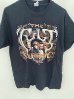 the cult electric shirt Mens Large Black Short Sleeve