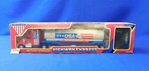 Battery Operated Highway Express Truck and Trailer w/Dual Stick Remote Control