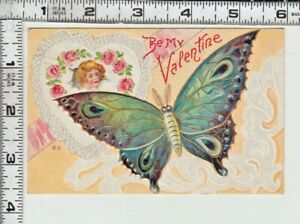 "BUTTERFLY SERIES - ""Be My Valentine"" - Colorful Butterfly & Face of Pretty Girl"