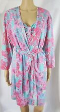 JOSIE 2-Piece Robe and Nightgown Multicolor Floral Print Size Medium