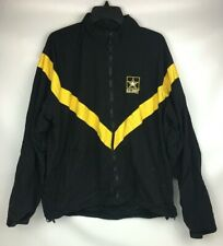 US Army APFU Unisex Physical Fitness Uniform Jacket Black & Gold Large Regular