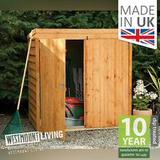 NEW WOODEN OVERLAP MOWER STORE GARDEN TOOL LOG WOOD SMALL STORAGE SHED