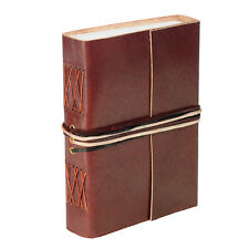 Fair Trade Handmade Leather 3-string Choco Brown Leather Journal - 2nd Quality