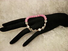 Handmade PINK Breast Cancer SURVIVOR  AWARENESS Bead Bracelet/Jewelry ALL SIZES