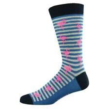Bamboo socks - Flamingo Stripe - Regular fit 7 - 11 - Includes Post in Australia