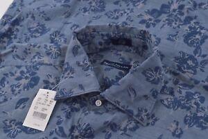 NWOT Peter Millar Collection Medium Dress Shirt Blue Floral Brand New Turkey