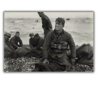 "War us soldiers on beach D-Day Normandy June 1944 WW2 Photo Glossy ""4 x 6"" A"