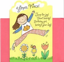 Happy Birthday Niece Laugh & Play The Day Away Flowers Garden Hallmark Card