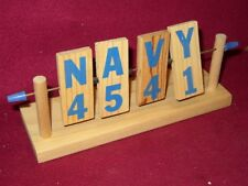 NAVY Rubber band GUN shooter GAME spin TARGET rack holder wall or table  8F3
