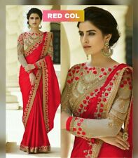 Red Traditional Indian Bollywood Bridal Wedding Heavy Evening Party Ethnic Saree