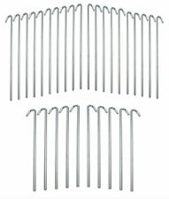 30 Piece Metal Galvanized Steel Tent Pegs Garden Stakes Fence Tarp Camping Grass