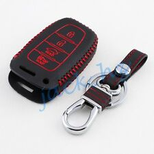 Leather Key Case Holder For Hyundai Sonata Equus Elantra Veloster Accessories