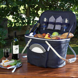 Picnic at Ascot Collapsible Insulated Picnic Basket with Service for 2 (408)