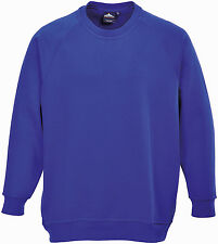 Portwest Men's Heavyweight Roma Work Sweatshirt B300 Royal 3xl Regular