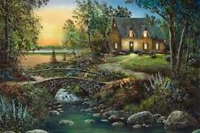 "Jim Hansel "" Stonybrook Cottage"" Canvas Giclee Signed And Numbered  24"" x 16"""