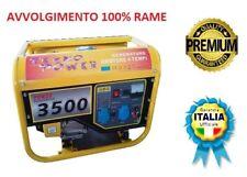 GRUPPO ELETTROGENO GENERATORE DI CORRENTE 3KW 6,5HP MOTORE 4 TEMPI 15 LITRI