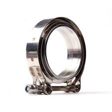 """4"""" Inch Turbo Exhause Down Pipe Stainless Steel V-Band Clamp with Flange #304"""