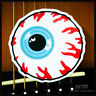 Sticker Autocollant Eye Oeil Guitare Frigo Moto Vélo Punk Rock