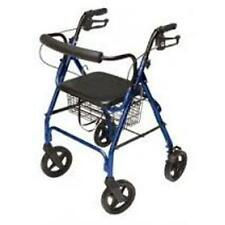 Lumex Walkabout Four-Wheel Contour Deluxe Rollator - Blue