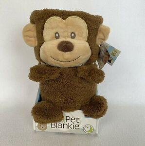 Monkey Blanket Pillow My Pet Blankie Original Ultra Soft 3-in-1 Plush Toy NIB