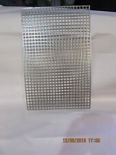 """3/8"""" SQUARE HOLE CARBON STEEL PERFORATED SHEET 11"""" X 17"""""""