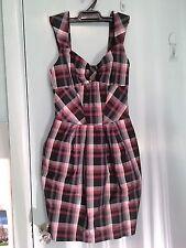 CUE dress in tartan fabric in size 6