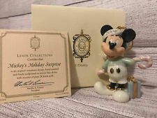 Lenox Mickey Mouse 2002 Mickey's Holiday Surprise Ornament New in Box with Coa