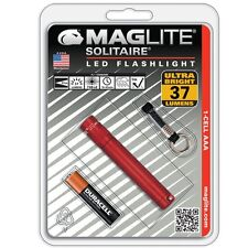 Mag-lite Solitaire Led 1-cell Aaa Flashlight - Anodized Aluminumhousing - Red