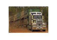 KENWORTH T904 TRIPLE ROADTRAIN  TIN SIGN  80x53cm. XLARGE KENWORTH T904 TIN SIGN