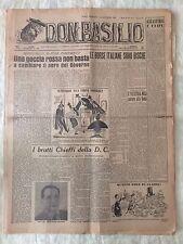 Don Basilio n.67 - 21 dicembre 1947 settimanale satirico d'opposizione