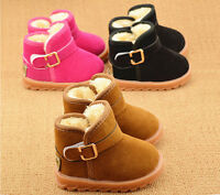 Newborn Baby Infant Toddler Boy Girl Snow Boots Crib Shoes Prewalker Size 5-11